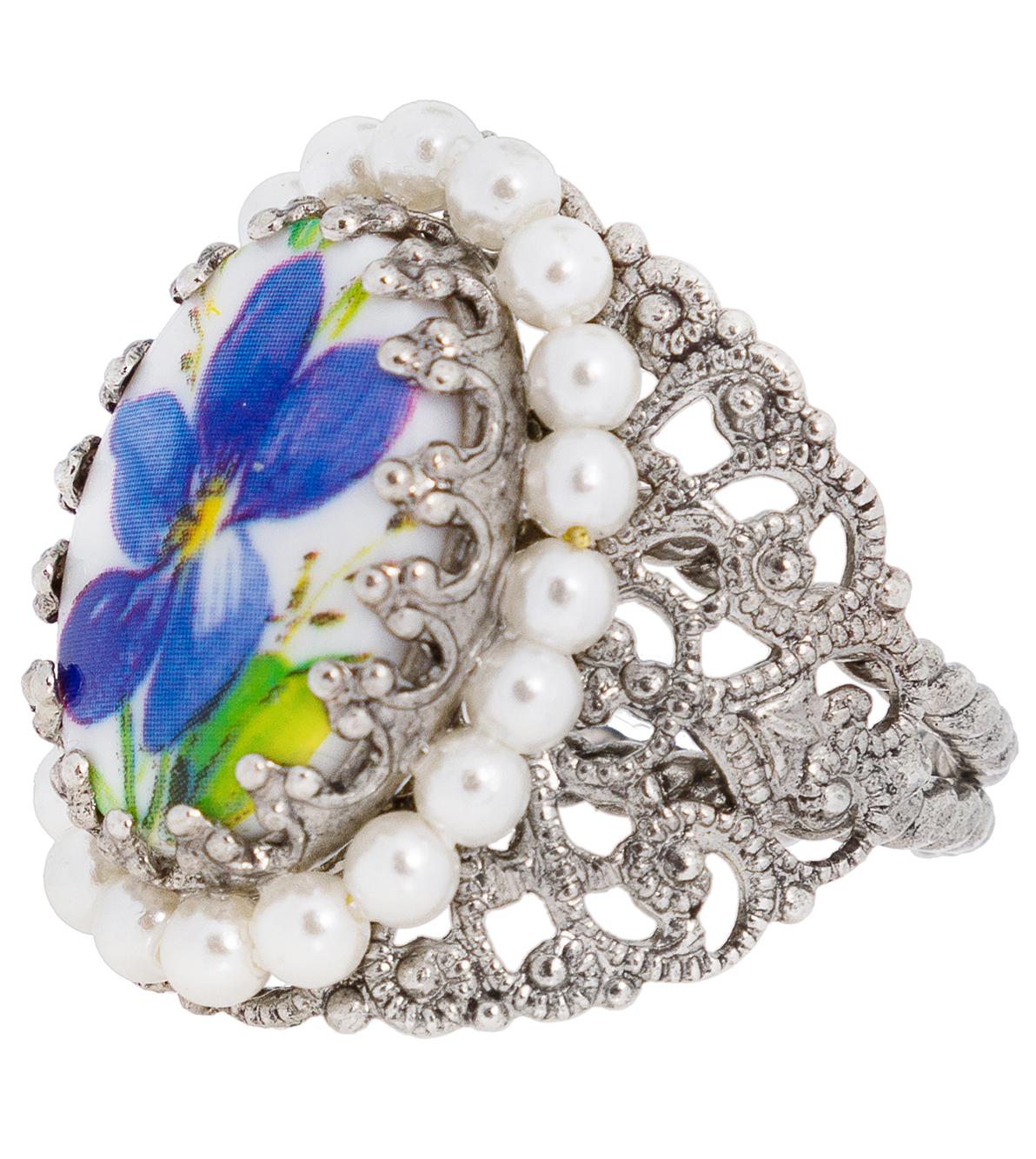 Ring R801 Ornament umfasst, blau von Schuhmacher