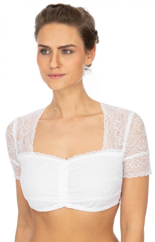 Traditional dirndl blouse NAMIKA-KOSIRA white