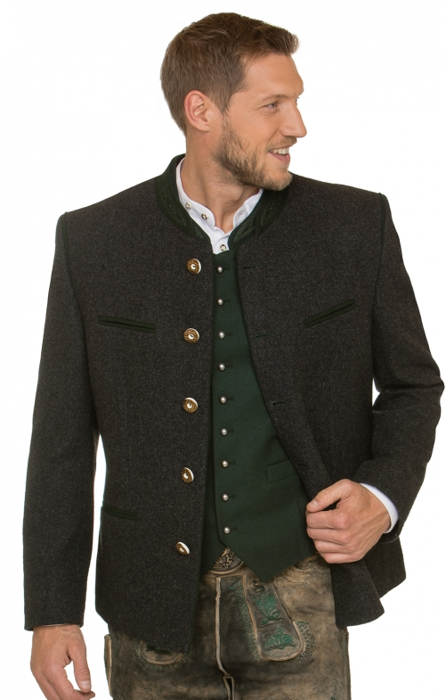 German traditional jacket STACHUS anthracite