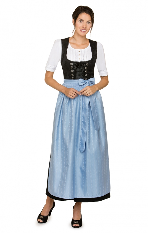 Dirndl apron long SC270 blue 96 cm