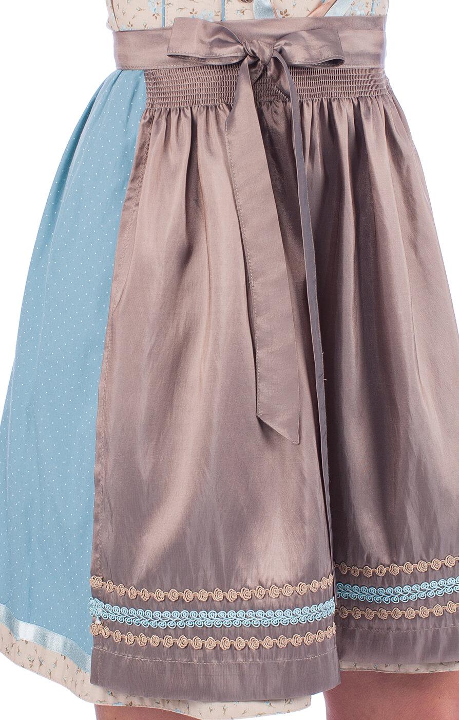 weitere Bilder von Minidirndl 2pcs. Mira beige blue 55cm