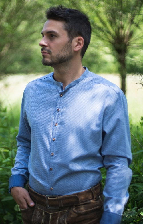 German traditional shirt PETER light blue