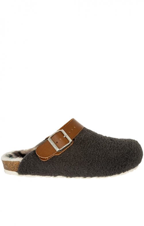 Traditional SlipperG100111 WOOLAND gray