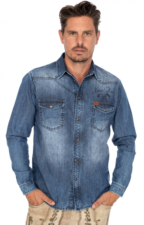 German traditional shirt LASSE denim