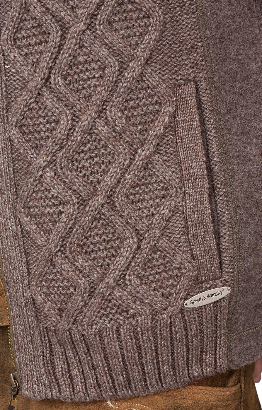 weitere Bilder von Trachten Strickweste Fulvio beige braun