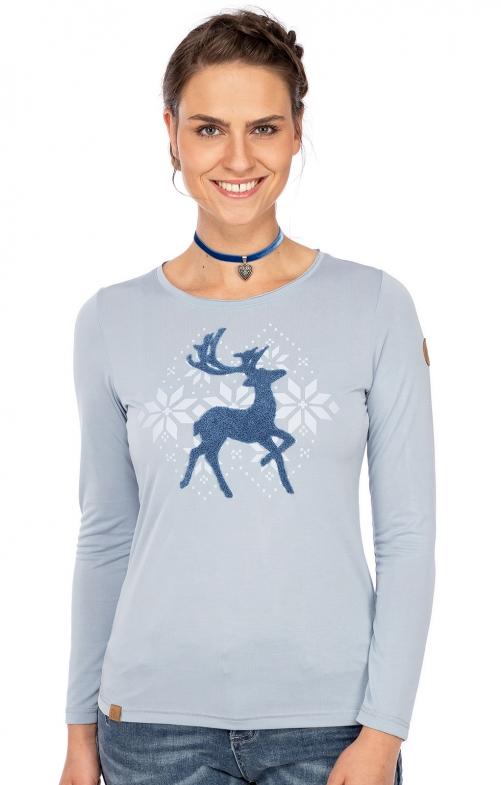 Langarmshirt GERBRUNN cashmere blue