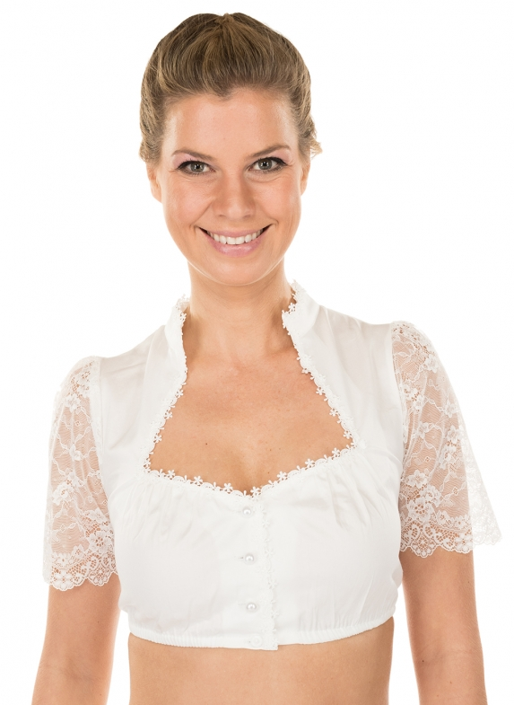 Traditional dirndl blouse EMMA ecru