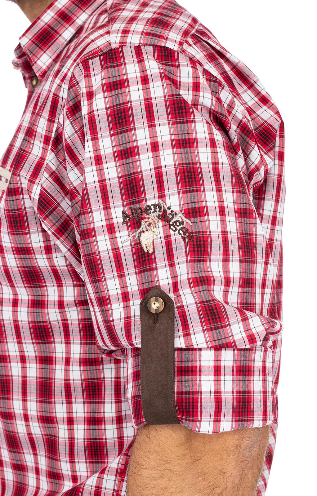 weitere Bilder von Karo Langarmhemd ÜBERSEE rot