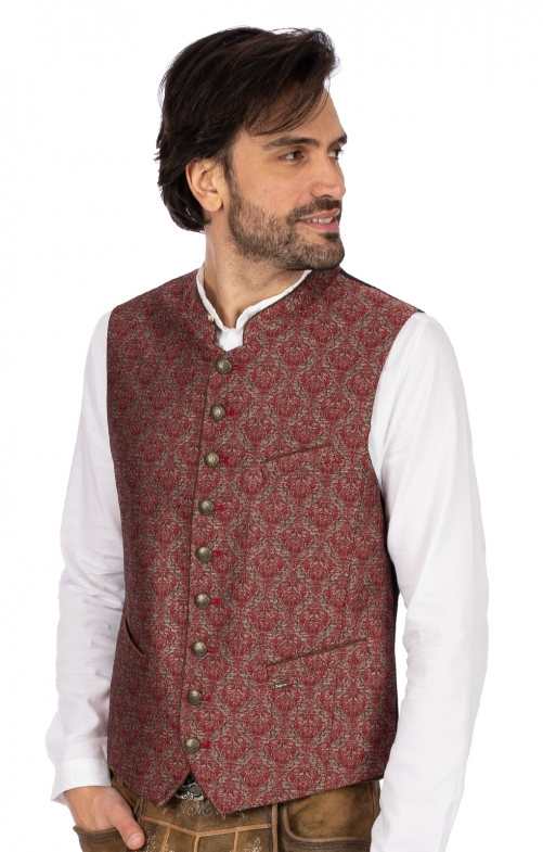 Traditional waistcoat SPENCER red
