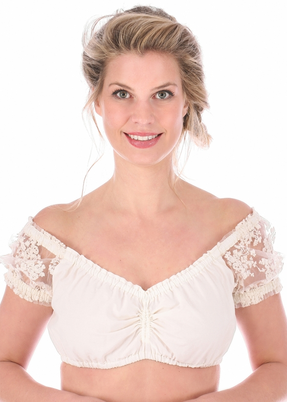Traditional dirndl blouse SOFERL creme