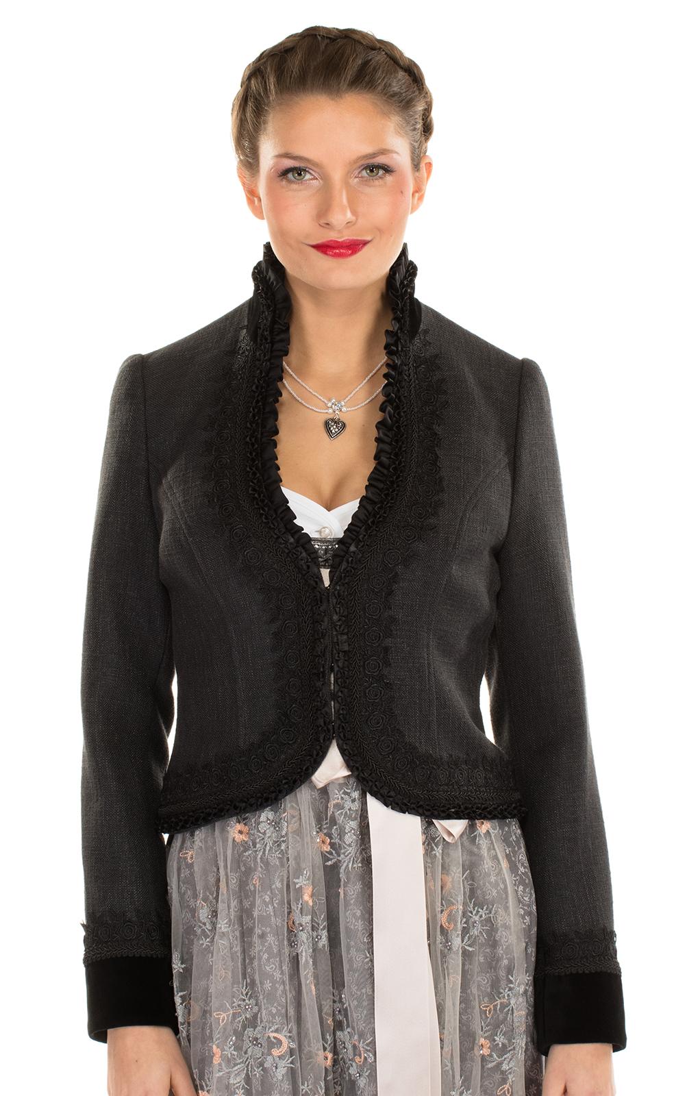 Traditional Jacket CHARMING black von Krüger Dirndl