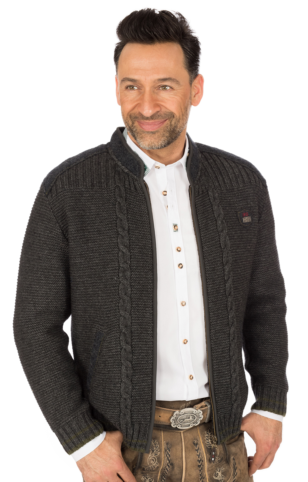 weitere Bilder von Traditional german cardigan black gray