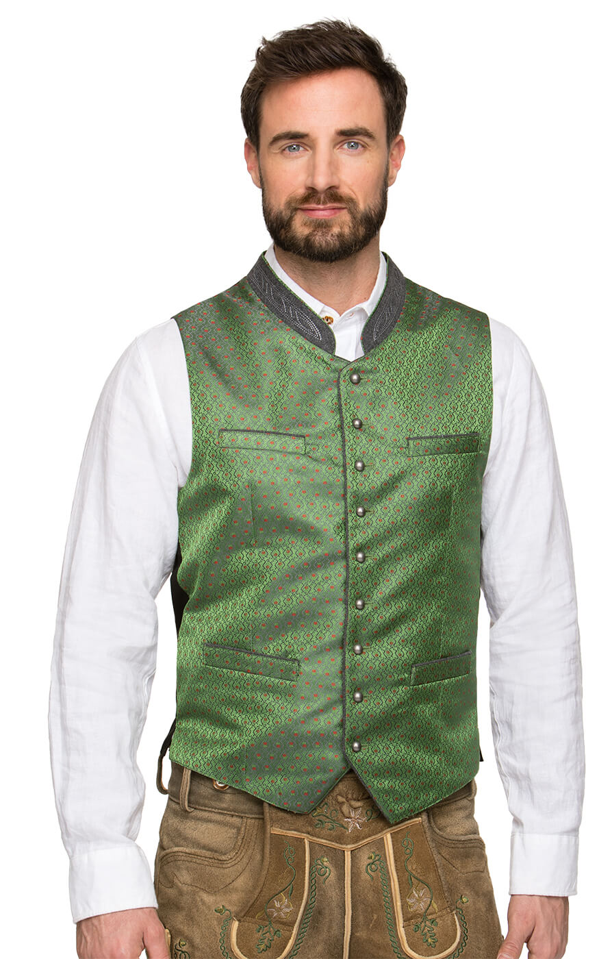 Traditional waistcoat ARNIE green von Stockerpoint