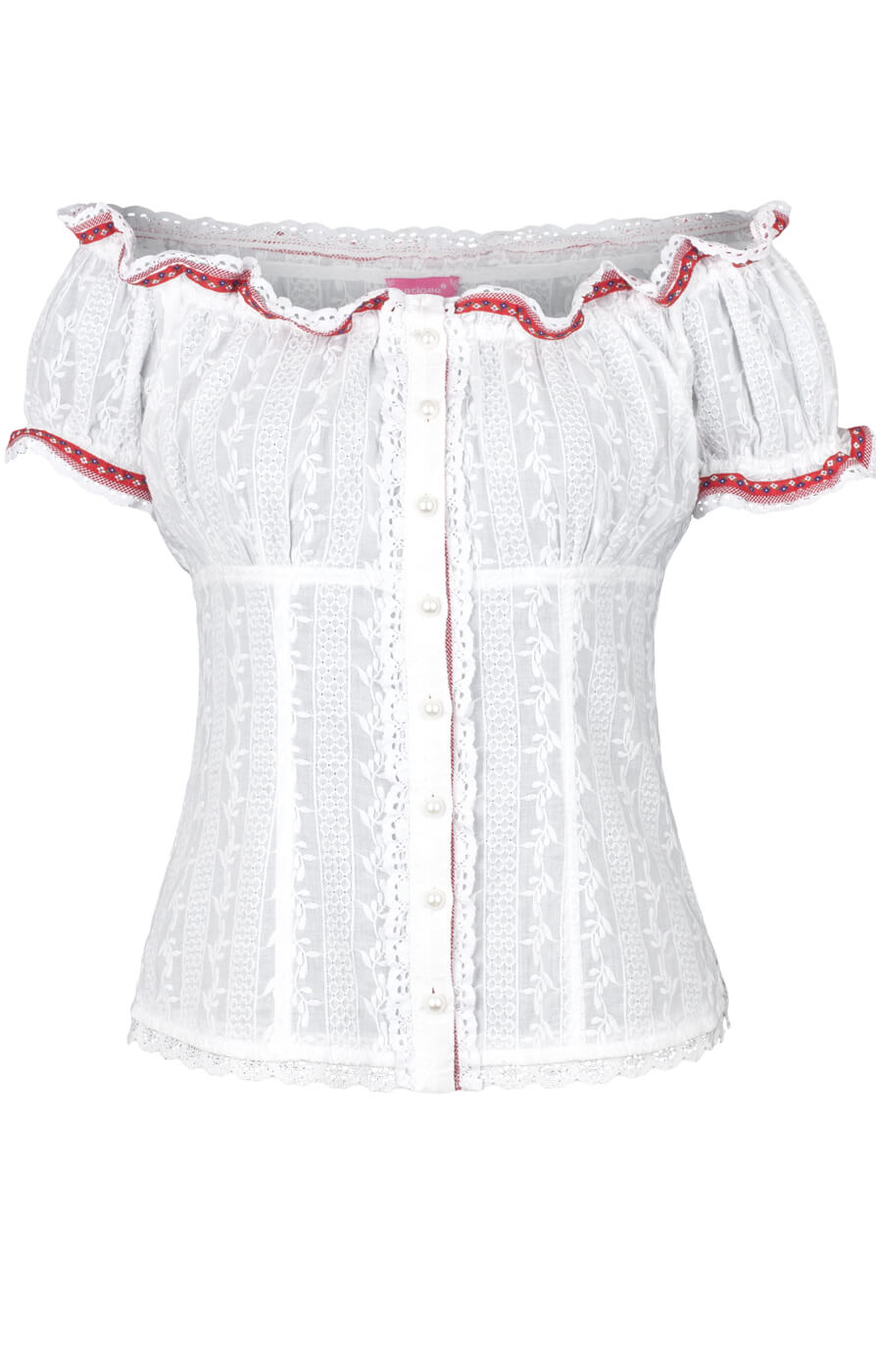 weitere Bilder von Traditional blouse 33840-1 white red
