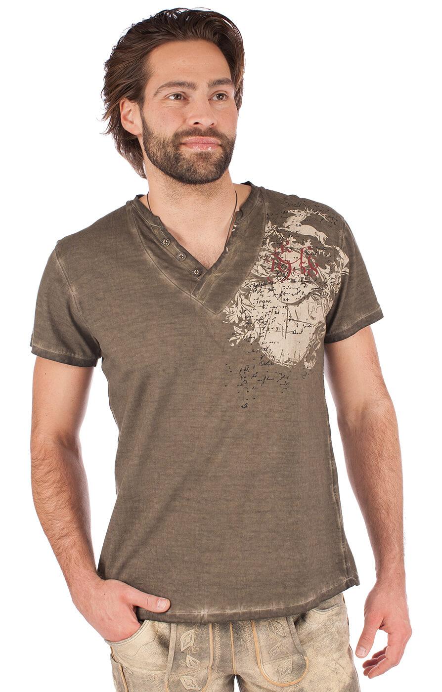 Trachten T-Shirt 93210-7 braun von Krüger Dirndl