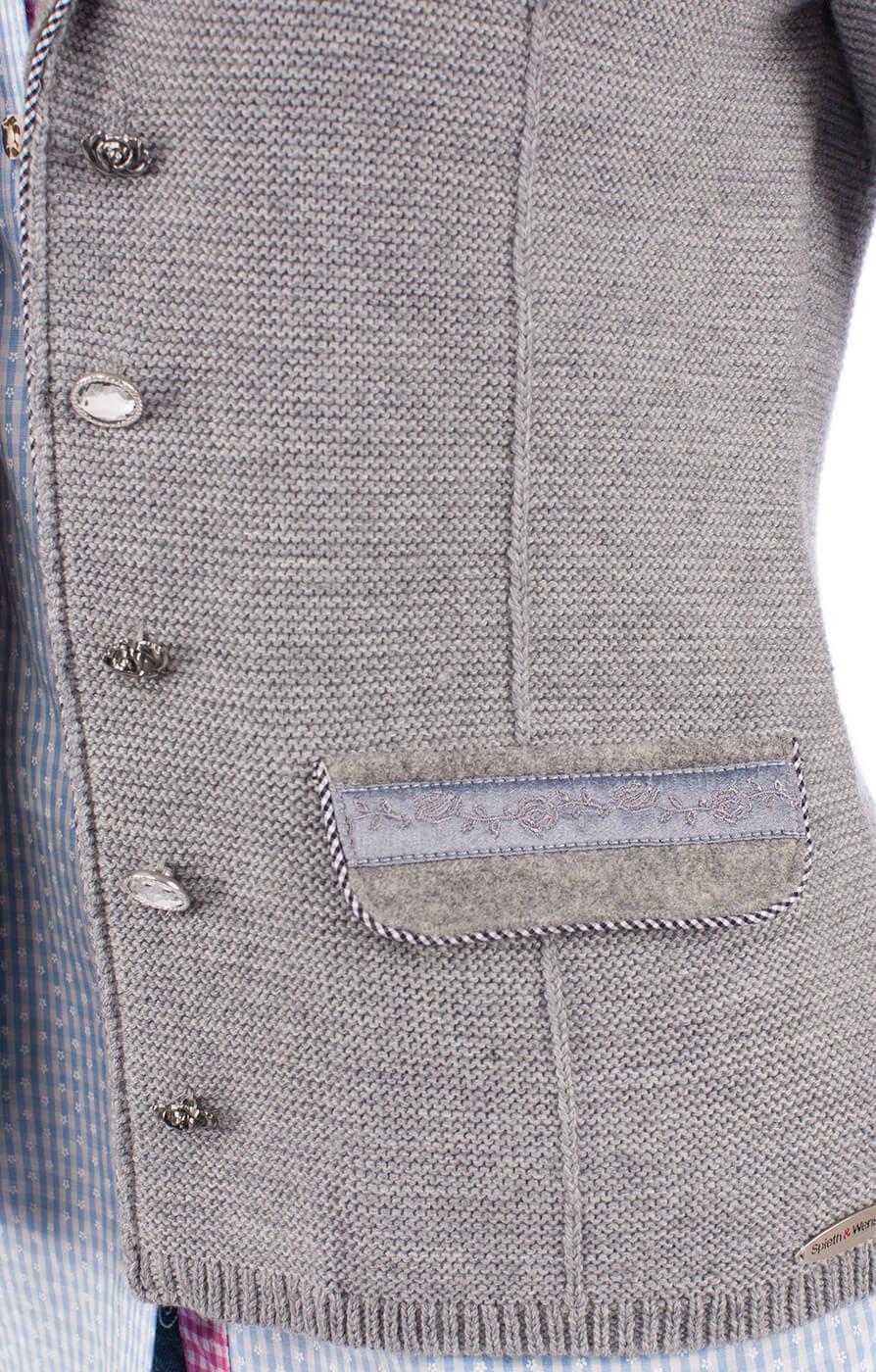 weitere Bilder von Giacca in maglia per Dirndl ELSBETH grigio