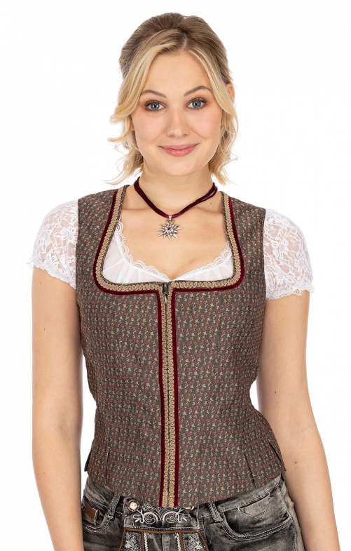 Traditional dirndl corsage MA159 antracite