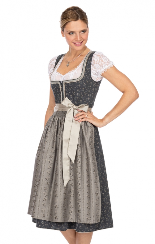Mididirndl 2pcs. 70 cm BAYA gray brown
