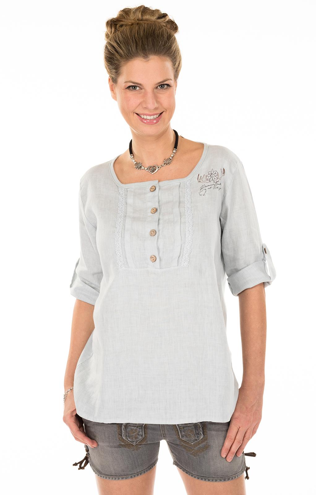 Traditional blouse MERIDA-Tgray von Hangowear