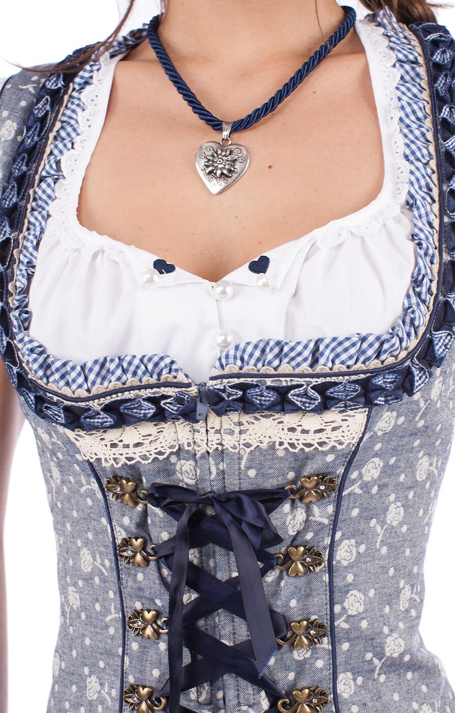 weitere Bilder von Traditional dirndl corsage MICHAELA blue nature