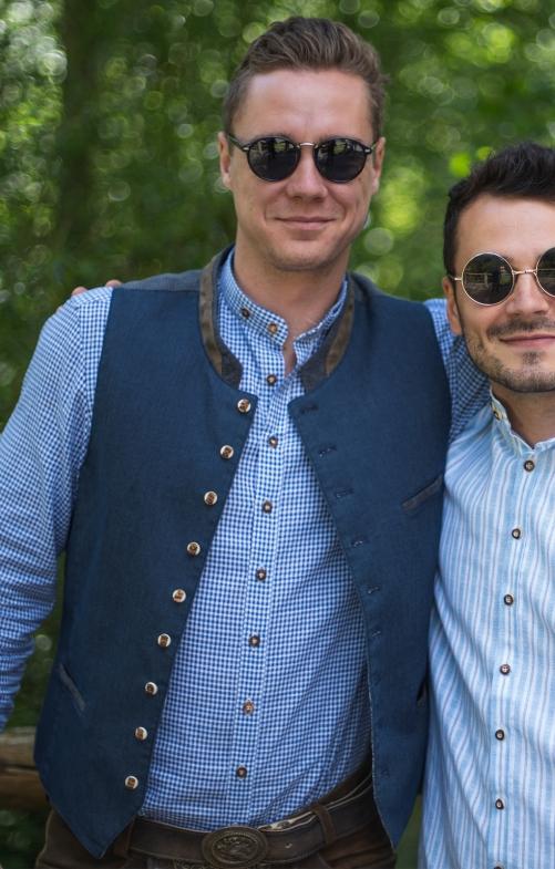 Traditional waistcoat KREUZECK blue