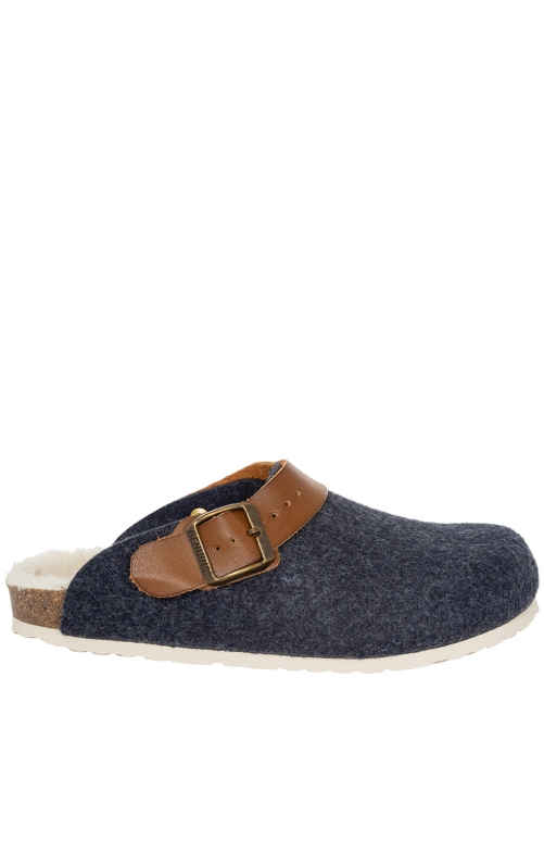 Traditional SlipperG100126 SHETLAND navy