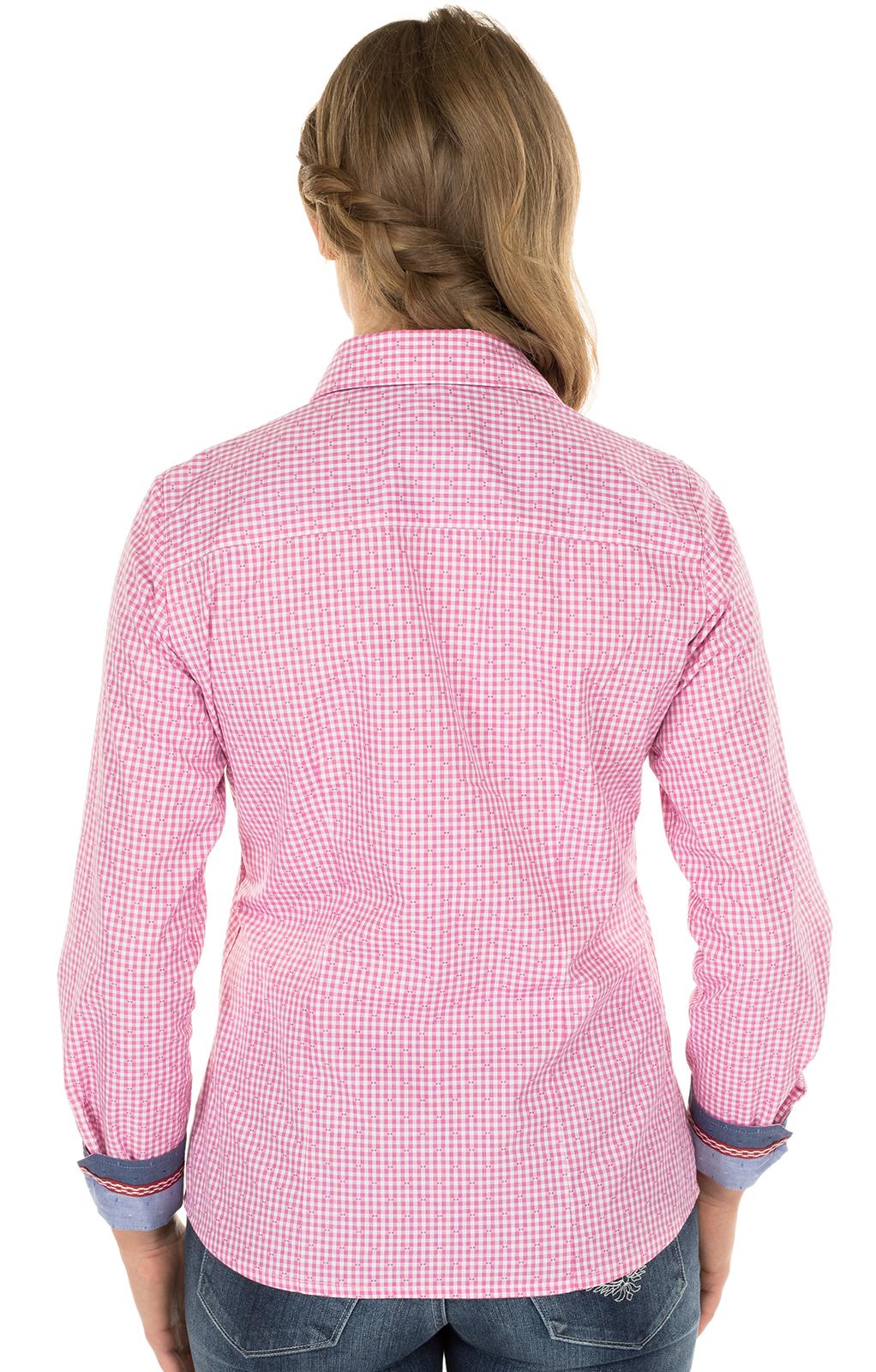 weitere Bilder von Trachtenbluse TERRY Langarm pink