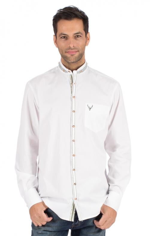 German traditional shirt FLORIAN white green