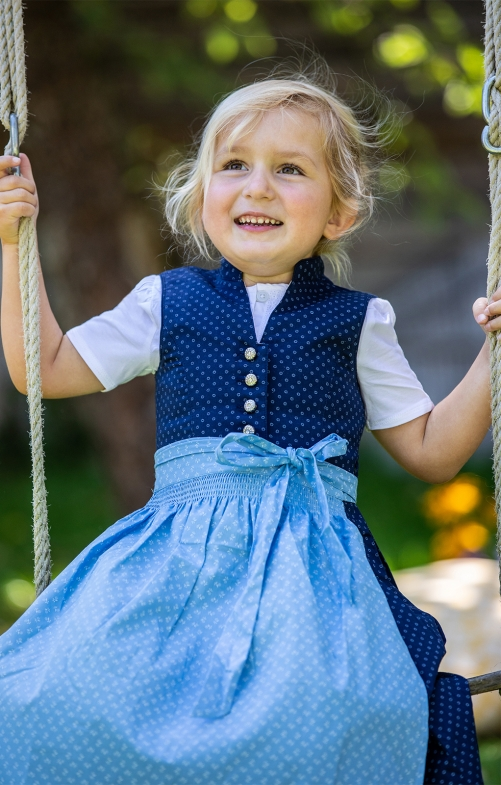 Traditional Children dirndl HELIKA KIDS blue lightblue