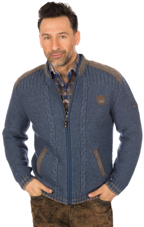 Traditional german cardigan blue