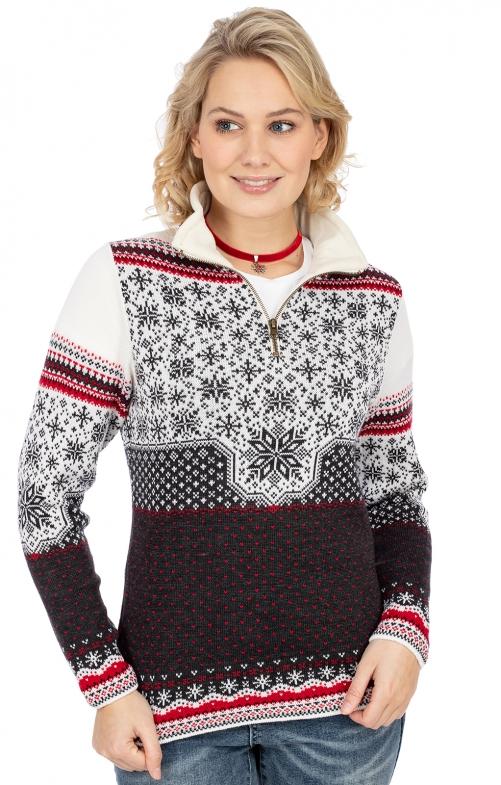 Norweger Pullover MARIA grau