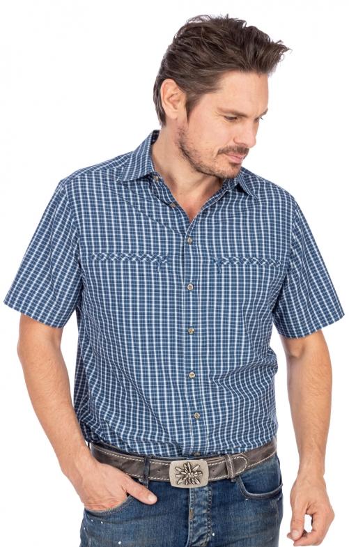 Wanderhemd RF 411000-3808-48 jeansblau