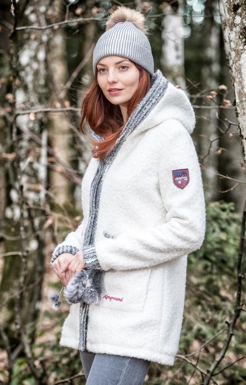 Blouse|Lederhosen Traditional Jacket WETTERKREUZ white anthracite