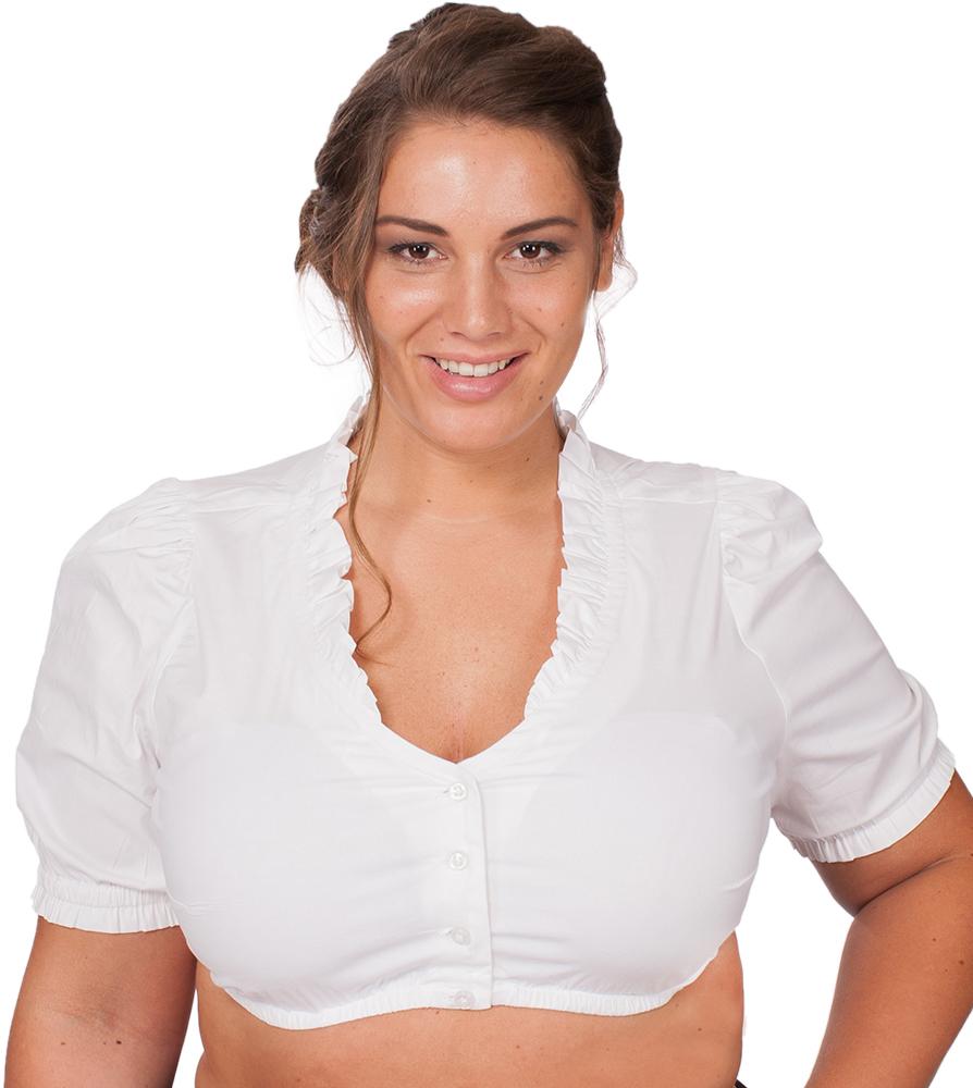 Dirndl blouse VICKY white PlusSize von Marjo