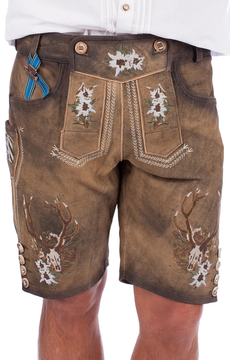 German leather trousers Antonius brown von Krüger Dirndl