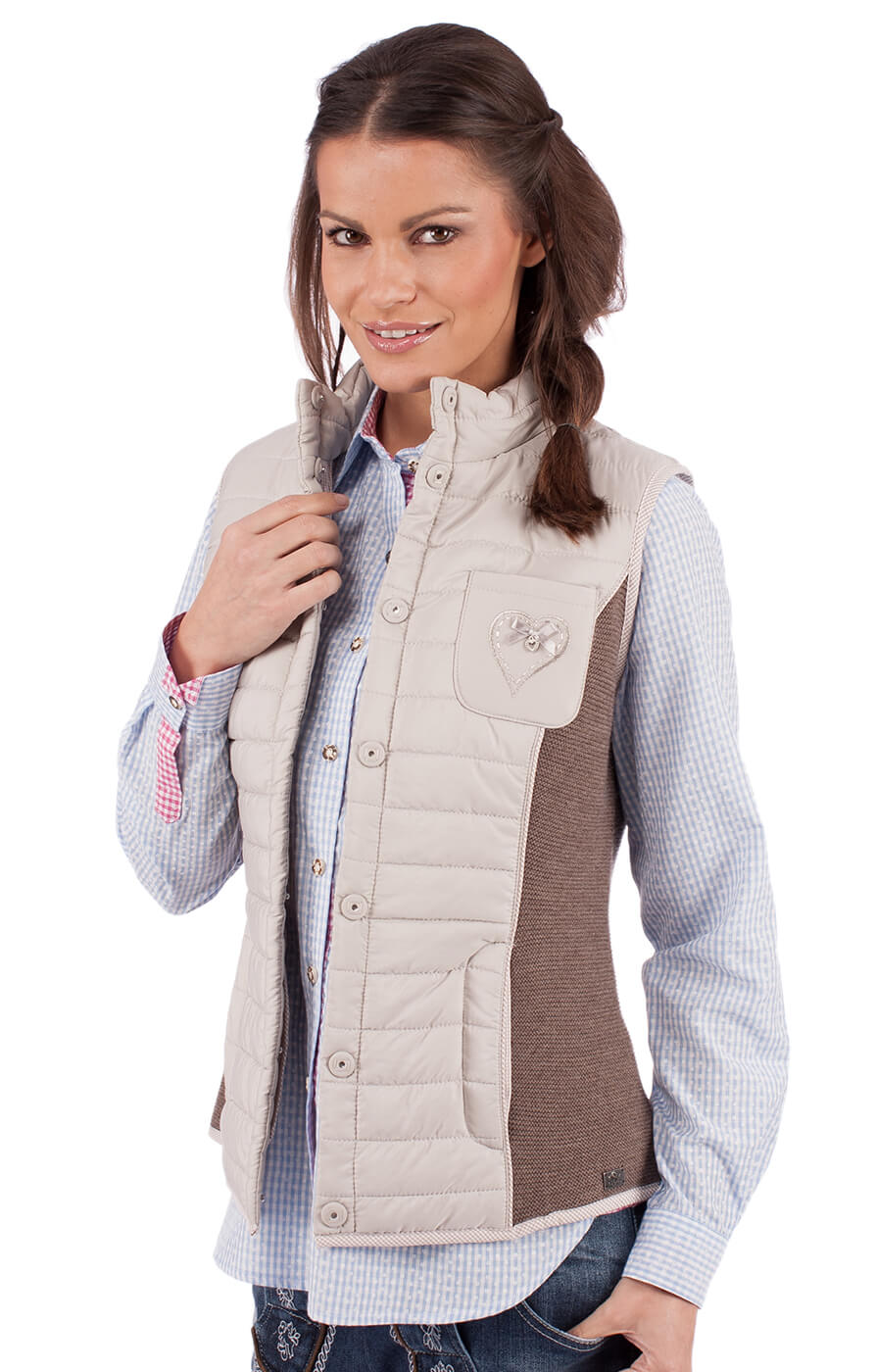 weitere Bilder von Traditional waistcoat ELKE nature brown