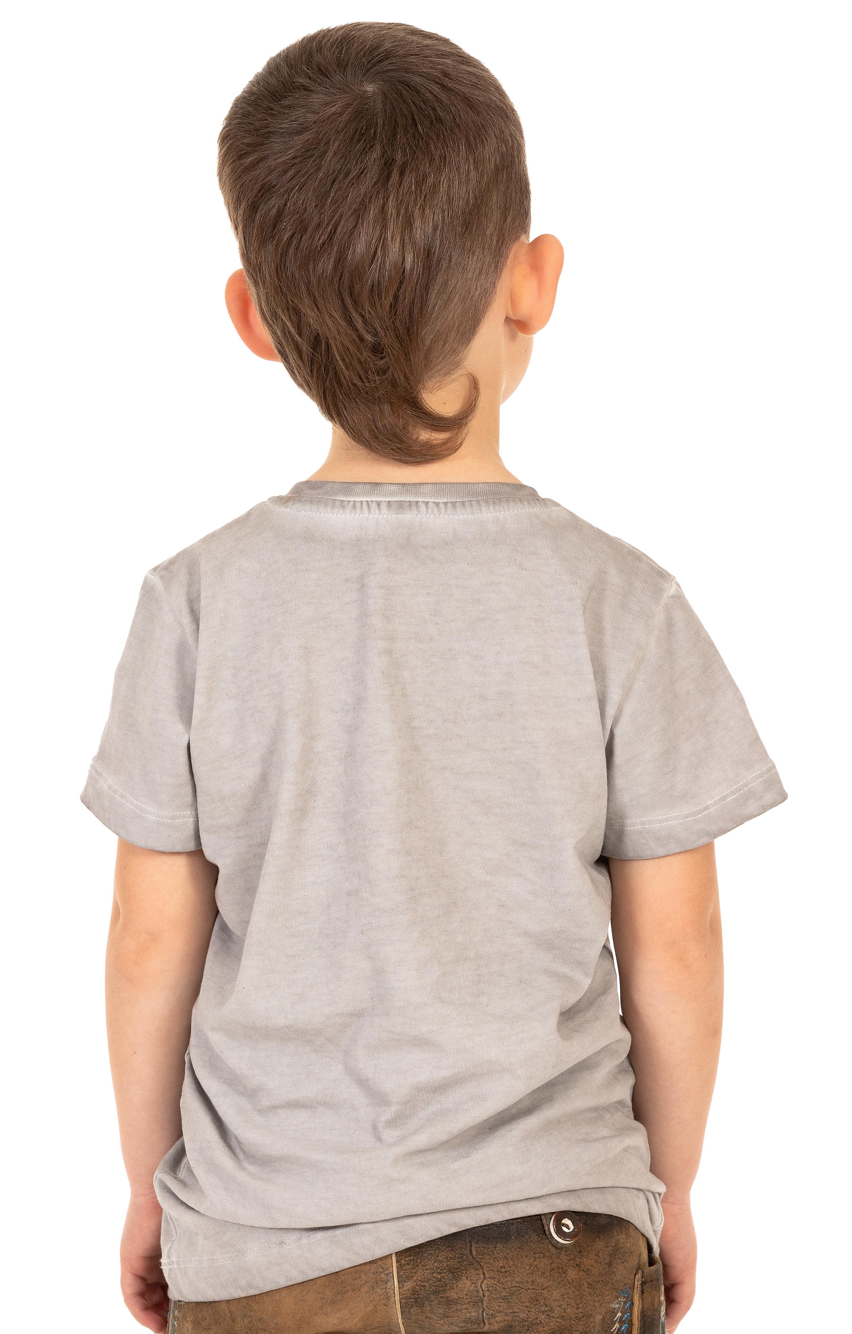weitere Bilder von Trachten Kinder T-Shirt M28 STURSCHAEDEL KIDS grau