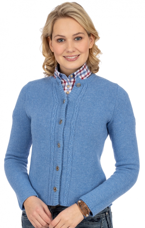 Strickjacke LISA6 hellblau