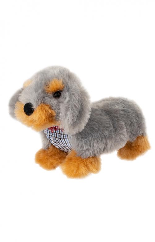 Peluche cane QUITSCHE ZAMPERL con sciarpa