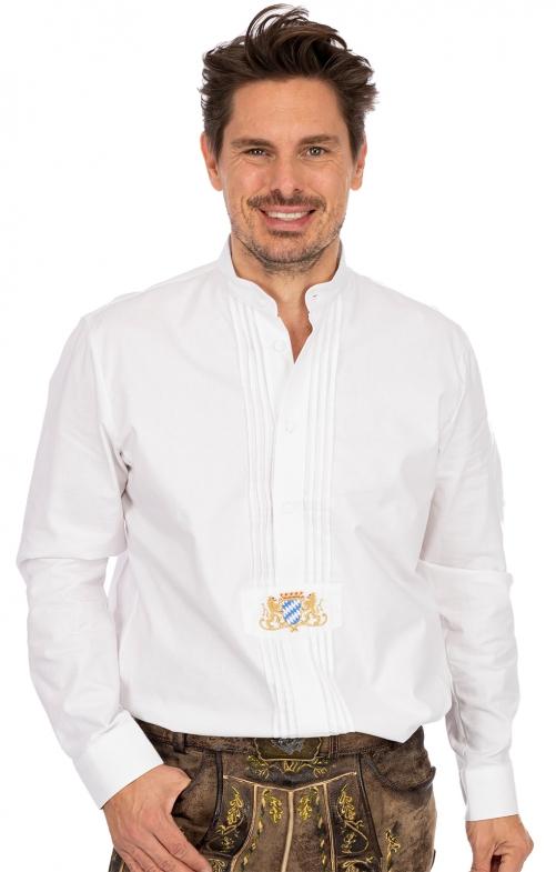 Stehkragenhemd CARSTEN weiß