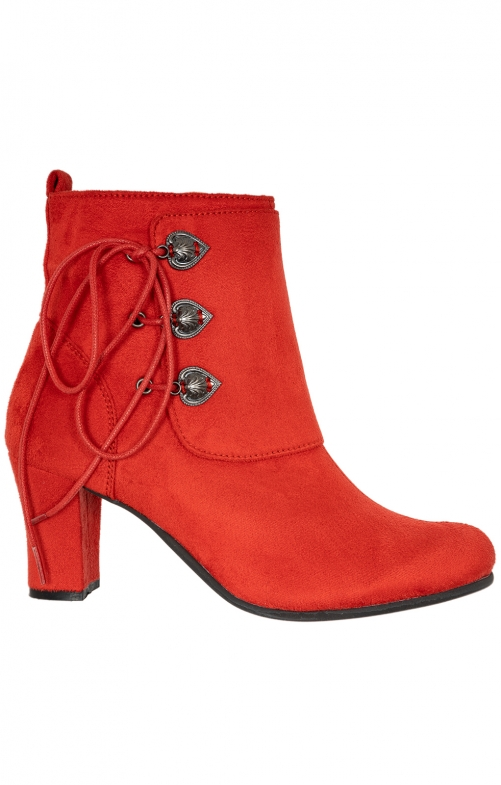Stiefelette Velour 3612711-21 red