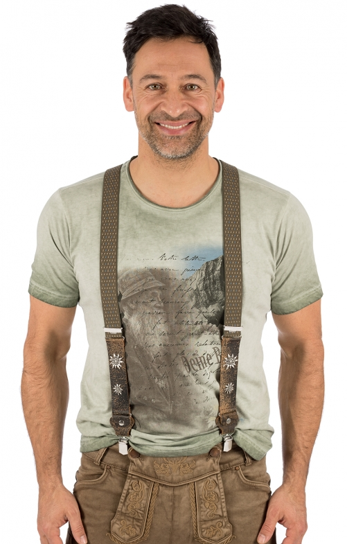 Traditional suspenders HT906-4 green