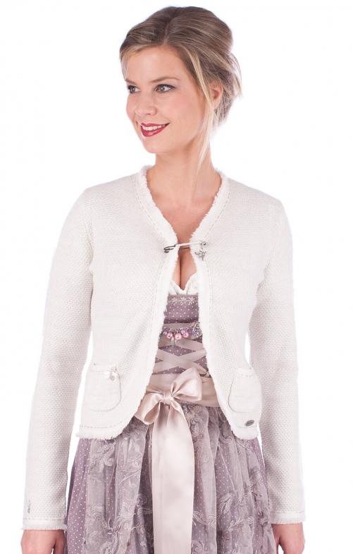 Giacca in maglia per Dirndl ERLE bianca