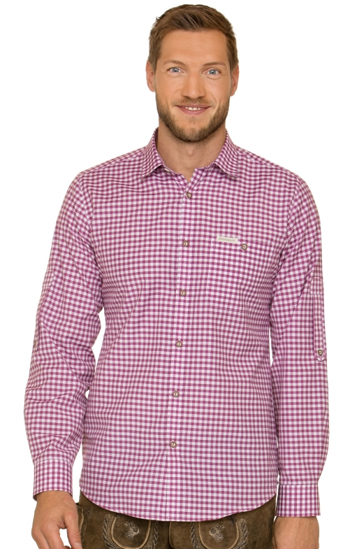 German traditional shirt CAMPOS3 berry
