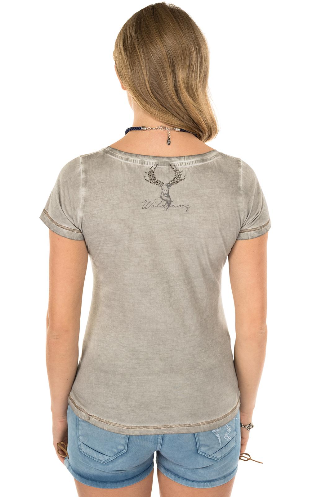 weitere Bilder von Trachten Shirt K02-SILBERHIRSCH gray