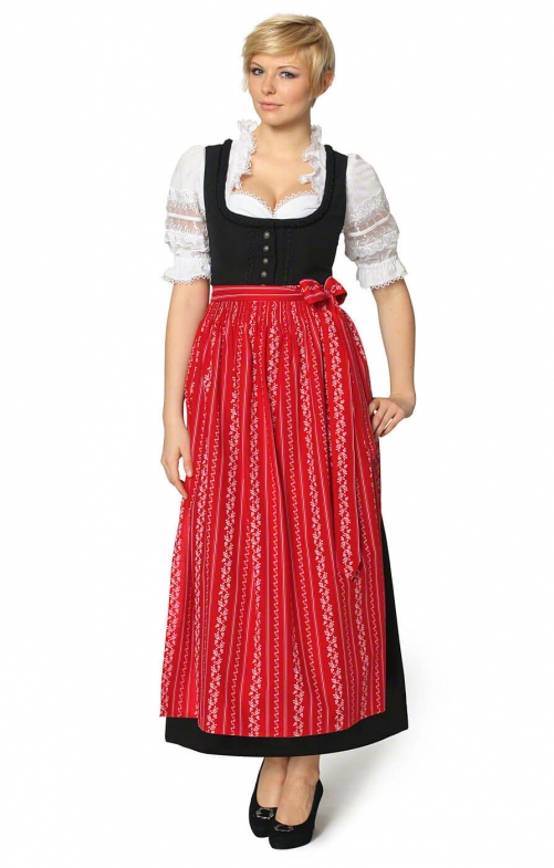 Dirndl long 96cm 1pc. ZENTA3 SC195 red
