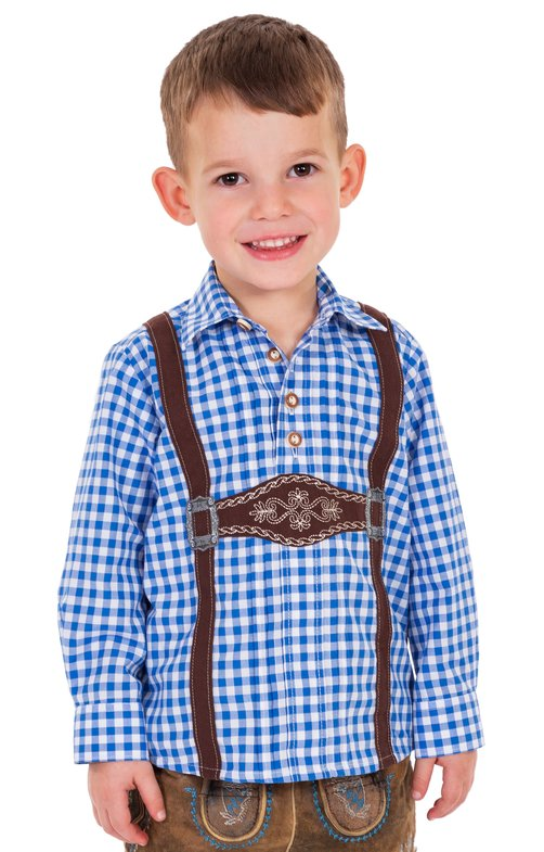 Children traditional shirt BENJAMIN blue