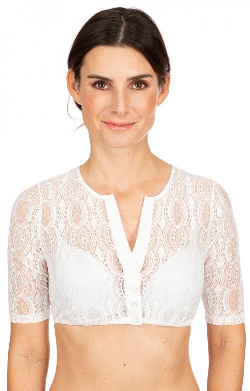 Traditional dirndl blouse LEONIQUE ecru