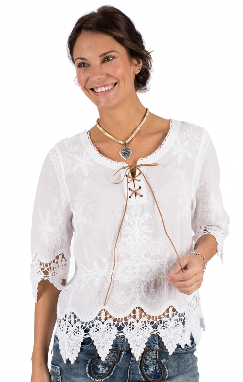 Traditional blouse OLENA white
