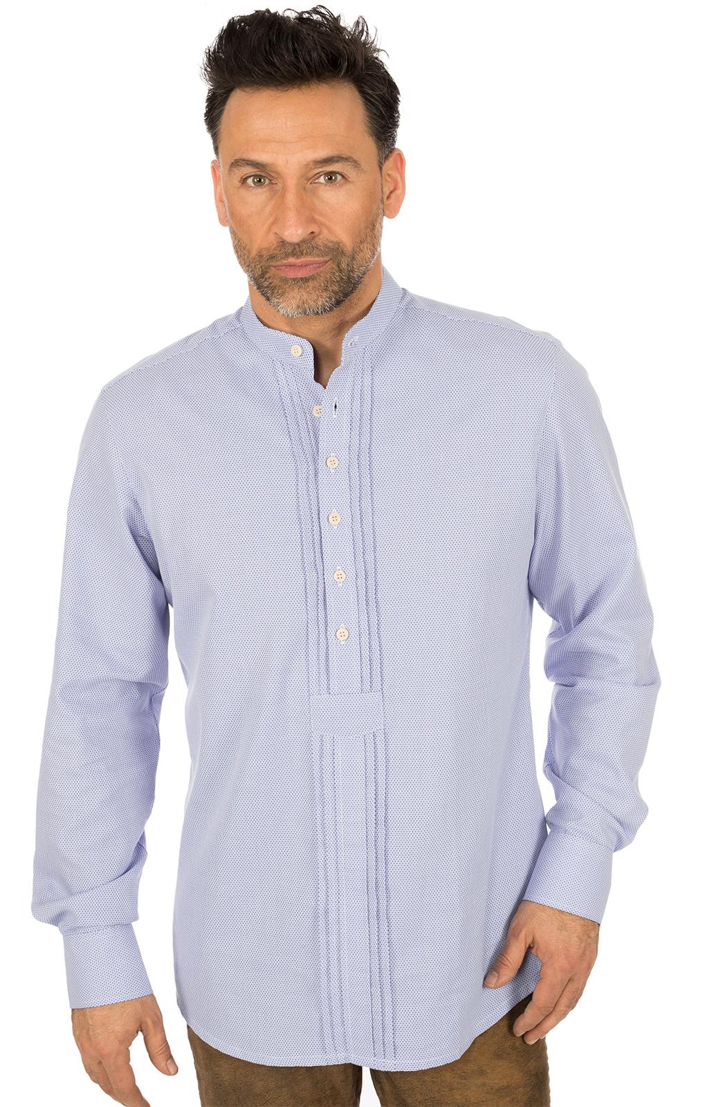 German traditional shirt Pfoad GRATANO blue von OS-Trachten